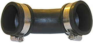 """LASCO 25-6830 Drain Pipe 90 Degree Elbow Flexible Rubber Connector with Clamps, 1 1/ 2"""" x 1 1/ 2"""""""