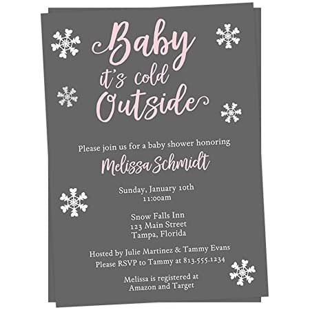 Baby it/'s Cold Outside Gender Neutral Baby Shower Editable Evite Template Invite S148 Winter Baby Shower Text Invitation