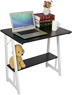 ZGstore Computer Desk with Storage Baffle- Simple Corner Desk Laptop Table Drafting Tables Study Desk Workstation for Home Office Dormitory (31.5×19.7Inch) (Black)