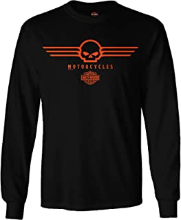 Sponsored Ad - Harley-Davidson Military - Men's Black Skull Graphic Long-Sleeve T-Shirt - RAF Lakenheath | G Wings