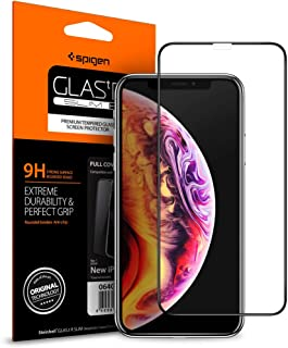 Spigen Apple iPhone 11 / iPhone XR Cam Ekran Koruyucu Tam Kaplayan Full Cover Black - 064GL25233
