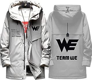 73HA73 Men's Down Jackets LOL SKT T1 E-Sport Team WE Uniform Full Zip Winter Coats Warmth Comfortable Hoodie Sweatshirt Casual Jacket (No Shirt)