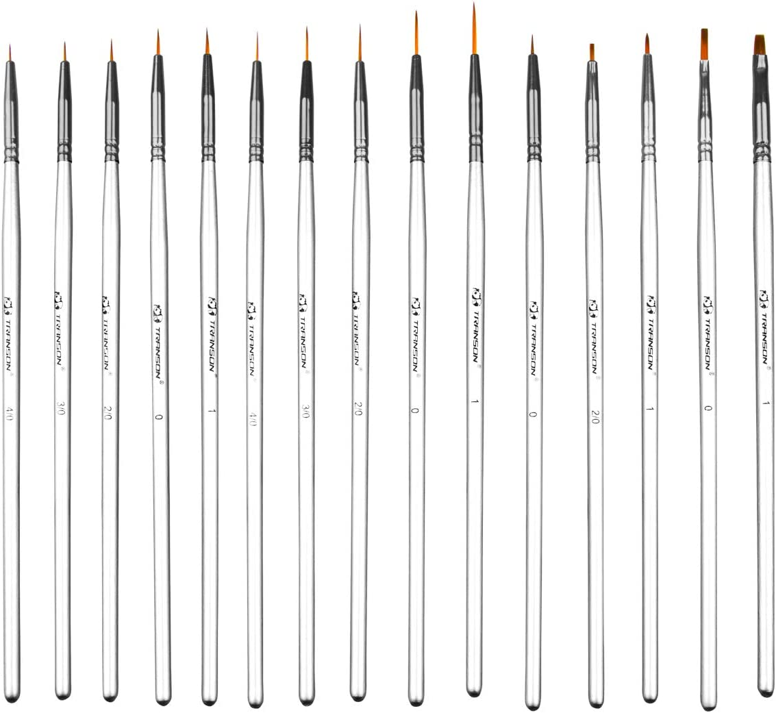 Transon Our shop most popular Artist Detail Paint Brush Today's only 15piece Miniature Set Mod for