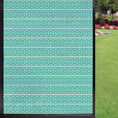 Protector de ventana para ventana geométrica para privacidad, para el hogar, bloqueo UV, privacidad, color azul oscuro, 60 x 90 cm