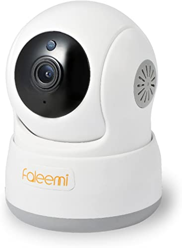 Faleemi HD Pan/Tilt Wireless WiFi IP Camera, Home Security Video Surveillance Camera with Two Way Audio, Night Vision...