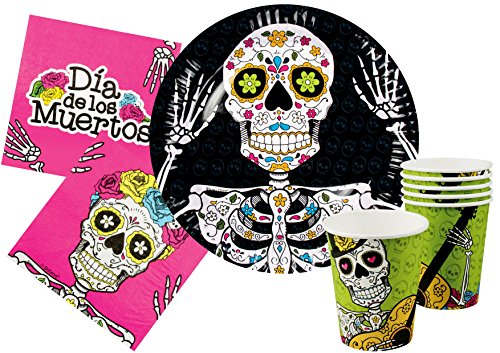 Ciao y4386Kit Party Tisch Halloween Dia de los Muertos für 12Personen, Mehrfarbig