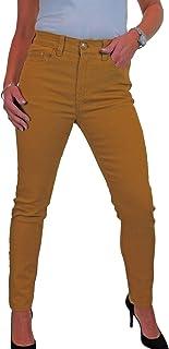 Jeans Ajustados Elásticos para Mujer Pantalones Vaqueros De Mezclilla Suave De Color Sólido De Cintura Alta para Mujer 38-50