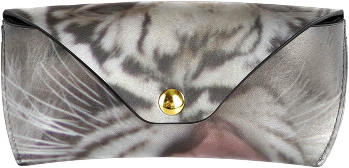 Portable Animal Tiger Multiuse present PU Leather Sunglasses Case Eyeglasses Pouch Goggles Bag