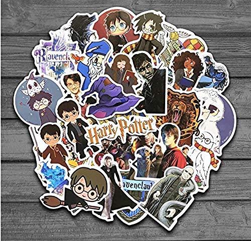 YRBB 50PCS Classic Magic Movie Cartoon snowboard laptop sticker voor kinderen waterdichte DIY sticker voor schrijfwaren voor koffer koelkast