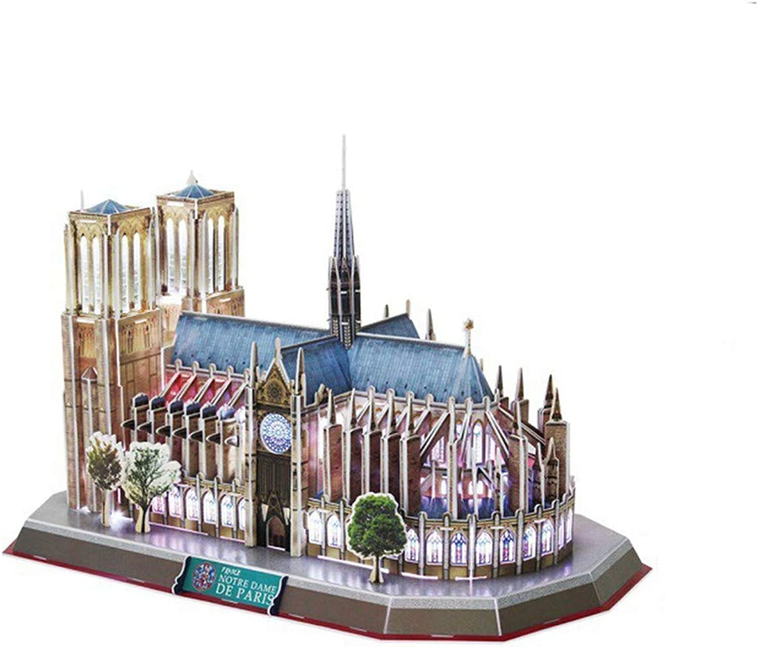 YXST 3D Puzzle Notre Dame De Paris Model Building Kit Craft Toy Birthday Gift For Kids