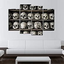 WLEZY 4-delige afbeelding op canvas met doodskop m...