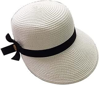 Duck Tongue Cap Straw Sun Visor Sun Hat Ladies Fashion Girls Summer Hat(White)
