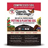 Compressed Organic Potting-Soil for Garden & Plants - Expands up to 7 Times When Mixed with Water - Nutrient...