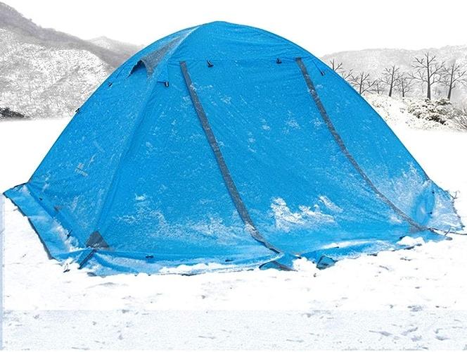 KTH Tente de Camping imperméable légère avec Deux Portes, pour 2 Personnes