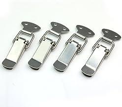 Set van 4 roestvrijstalen spansluitingen kappenslot 4 mm 73 mm nieuw zilver