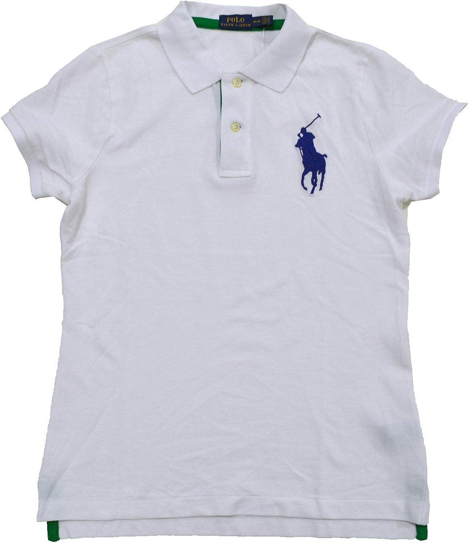 Polo Ralph Lauren Womens Graphic Polo Shirt (X-Small, White) at ...