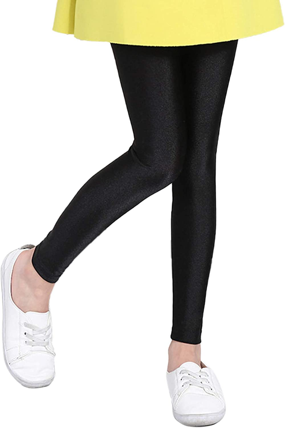 Baby Toddler Girls 100% quality warranty! Solid 2021 spring and summer new Leggings Full Shiny Stretch Length Casu