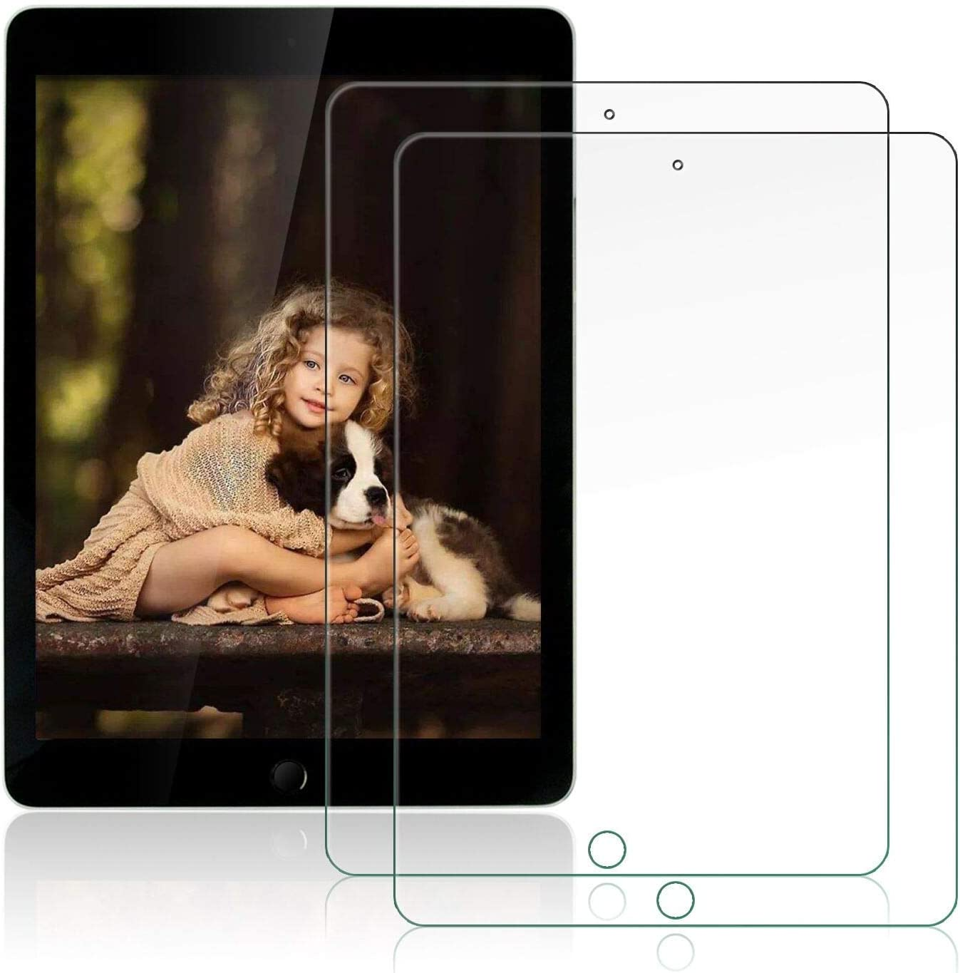 free shipping OKP 2 Pack New Screen Protector iPad Generation ipad Fresno Mall for 9th 8