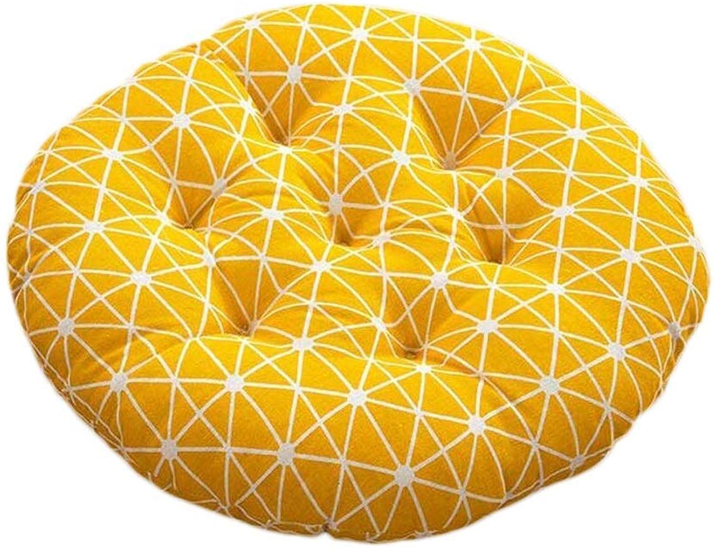 Seat Cushion Seat Cushion Yellow Circular Cushion Office Computer Chair Student Chair Thicken Sofa Lumbar Cushion Four Seasons Available Chair Pad (color   Common Models, Size   40  40  8cm)