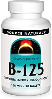 Source Naturals B-125, 125 mg B-Vitamins For Energy Production Support - 90 Tablets