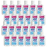 PURELL Advanced Hand Sanitizer Refreshing Gel, 2 fl oz Portable Flip Cap Bottle (Pack of 24) – 9650-24-CMR