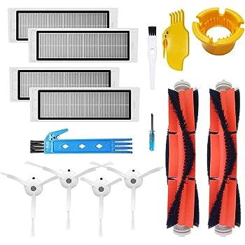 Taoric Kit daccessoires de pi/èces de rechange Compatible avec Roborock E25 S5 E20 E25 C10 S50 Xiaomi Mi Mijia 4 vadrouilles