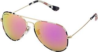 Sky Vision Aviator Sunglasses for Women, Pink Lens, 2681
