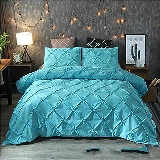 QXXKJDS Home Textile Parure de lit avec housse de couette 3D Motif floral Couleur unie Taille Queen size 220 x 240 cm 3 pi...