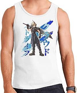 CHAOSHJU Cloud Strife Blue Ink Final Fantasy VII Men's Vest
