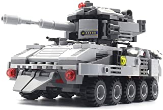 dOvOb Army Tanks Building Blocks Sets with 1 Figure(376 Pcs) Model Toys Gifts for Kid and Adult