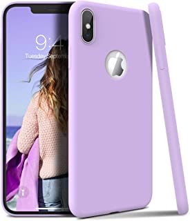 Winhoo Back Cover Case for iPhone Xs MAX Silicon Soft TPU Slim Matte Flexible Shockproof Gel Rubber Ultra Thin Candy Back Cover Case - Purple