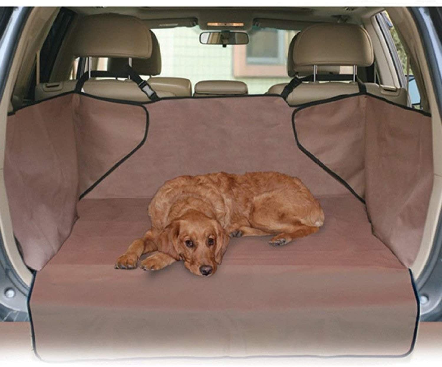 GDZ Trunk travel version pet car mate animal autumn and winter pad dog cushion waterproof car dog cushion, Brown (color   Brown)