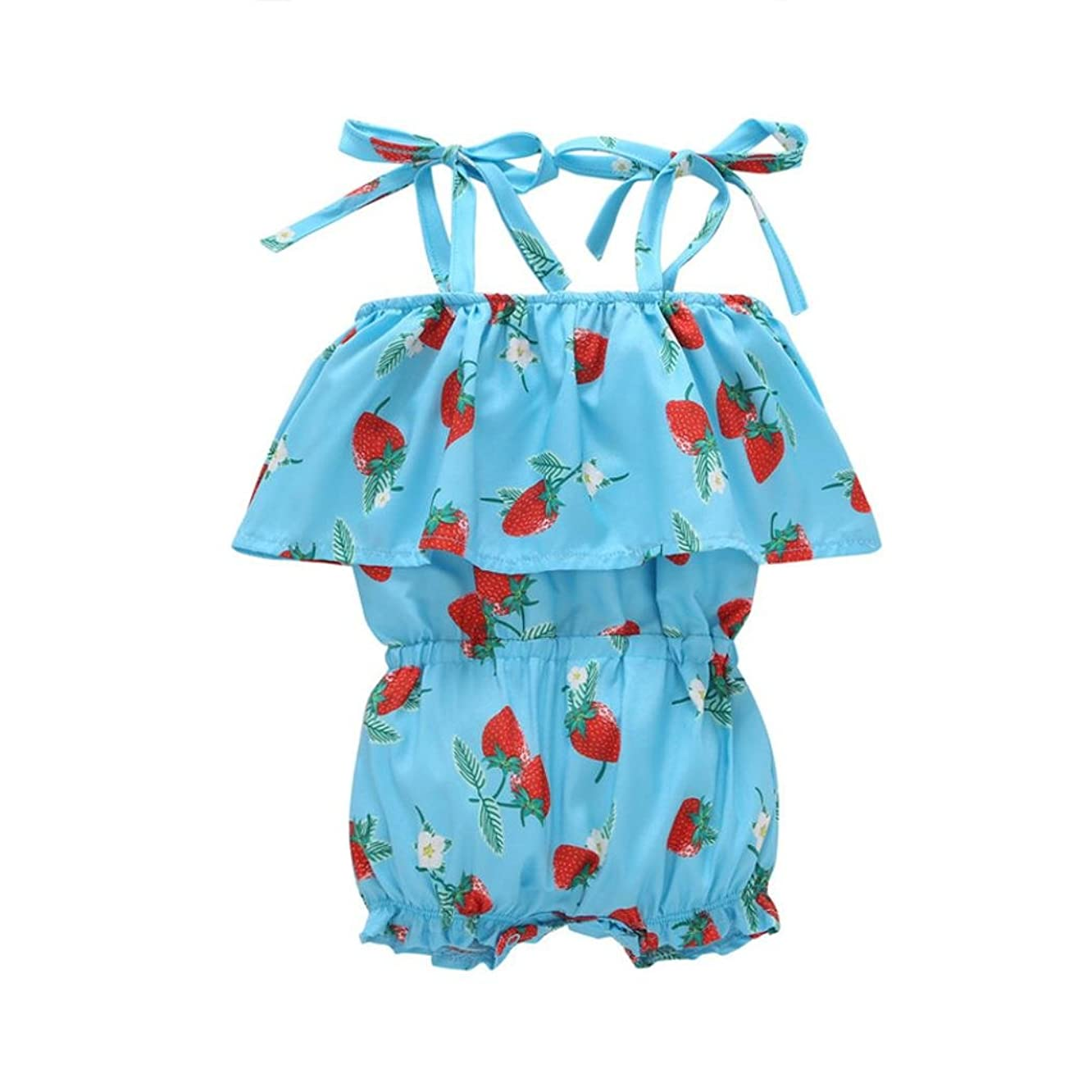 CSSD Toddler Baby Girls Sleeveless Strawberry Print Romper Playsuit Clothes Outfits