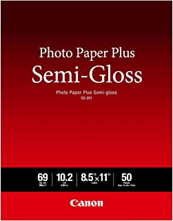 Canon Semi Gloss Inkjet Photo Paper, Letter Size (50 Sheets) for MX922, MG7720, MG6820, iP8720, iP110, MG3620 - SG-201 LTR...