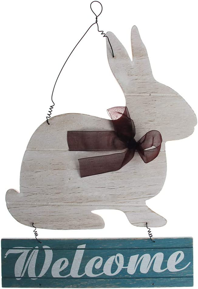 xzbnwuviei Easter W.elcome Wooden Ranking TOP10 Pendant Ri Bunny Al sold out.