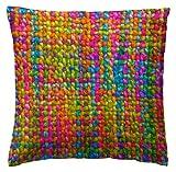 Martina Home Crochet Funda de Cojín, Tela, Multicolor, 50 x 50 cm