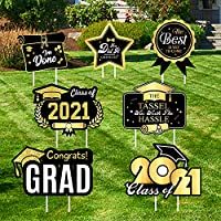 7-Pieces Larchio 2021 Graduation Yard Signs with Stakes