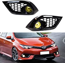iJDMTOY Yellow Lens Fog Lights Foglamp Kit with Halogen Bulbs, Bezel Covers, On/Off Switch & Wiring Relay For 2016 Scion iM, 2017-up Toyota Corolla iM
