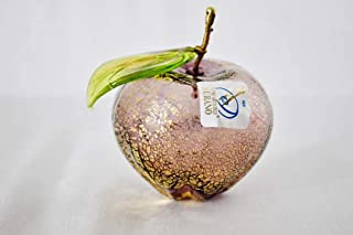 Murano Glass Authentic Blown Apple, Violet