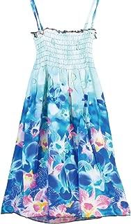 UPREDO Little Big Girls' Casual Summer Beach Halter Striped Floral Dresses,Size 4-12