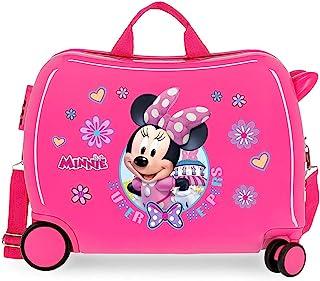 Valise Enfant porteur, 2 roues multidirectionnelles Minnie Super Helpers