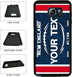 BleuReign(TM) Personalized Custom Name Football New England License Plate TPU RUBBER SILICONE Phone Case Back Cover For Samsung Galaxy S8