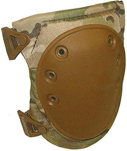ALTA 50413.16 AltaFLEX Knee Protector Pad, MultiCAM Cordura Nylon Fabric, AltaLOK Fastening, Flexible Cap, Long, Coyote