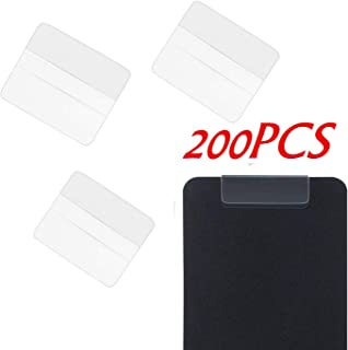MIAO YUAN 200PCS Plastic Earrings Card Adapter Self-Adhesive Jewelry Display Adapter for Women Girls Earrings Necklace Accessories Card Display