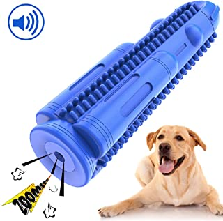 Pamlulu Dog Toothbrush Squeak Teeth Cleaning Toys Durable Dental Chew Toy Natural Rubber Chewing Brush Sticks Bones for Small Dogs Pet
