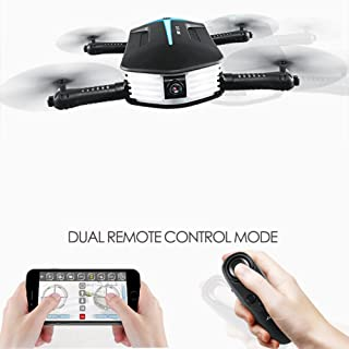 BTG H37 Mini Baby Elfie Foldable FPV WiFi RC Quadcopter Selfie Pocket Drone with 720P HD Camera - Gravity Sensor Control, APP Control, Altitude Hold, Stable Hovering, 3D Flips and Rolls