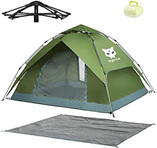 Night Cat Waterproof Camping Tent for 1 2 3 4 Person with Footprint Tarp Easy Instant Pop Up Tent Automatic Hydraulic Rain...