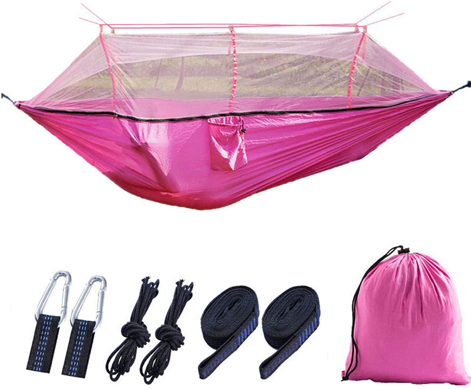 Hammock Outdoor with Mosquito net Garden Camping Double Double Parachute Cloth Portable Hiking Cross-Country Mountaineering Multifunctional