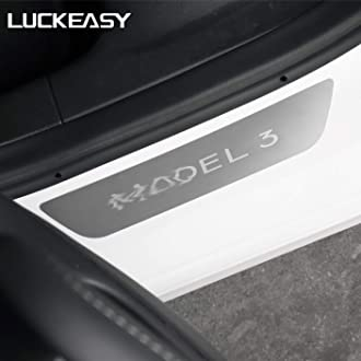 LUCKEASY Interior patch for for tesla model 3 2017-2020 real carbon fiber Column shift modeification CA M3-CF27L
