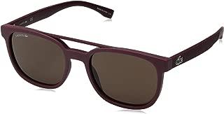 Men's L883s L883S-604 Rectangular Sunglasses, MATTE BURGUNDY, 53.83 mm